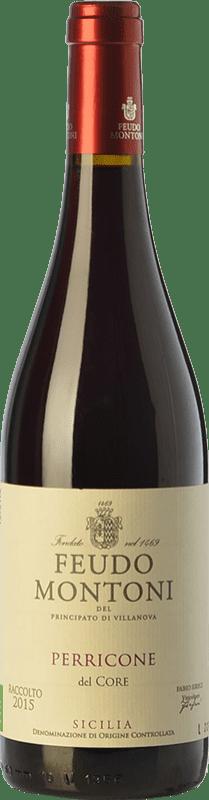15,95 € 免费送货   红酒 Feudo Montoni I.G.T. Terre Siciliane 西西里岛 意大利 Perricone 瓶子 75 cl