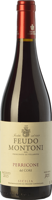 15,95 € Free Shipping | Red wine Feudo Montoni I.G.T. Terre Siciliane Sicily Italy Perricone Bottle 75 cl