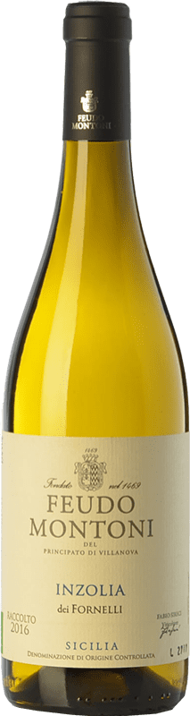 13,95 € Free Shipping | White wine Feudo Montoni Inzolia dei Fornelli I.G.T. Terre Siciliane Sicily Italy Insolia Bottle 75 cl
