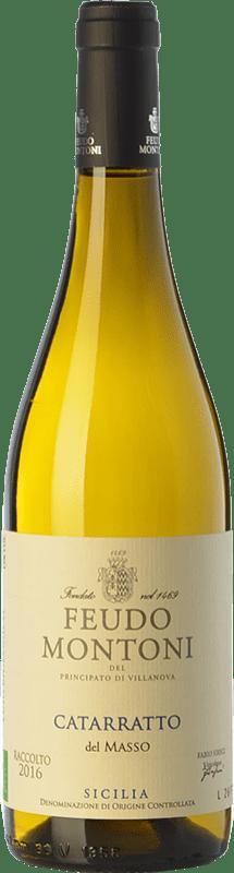 14,95 € 免费送货   白酒 Feudo Montoni Catarratto del Masso I.G.T. Terre Siciliane 西西里岛 意大利 Catarratto 瓶子 75 cl