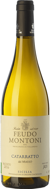 14,95 € Free Shipping | White wine Feudo Montoni Catarratto del Masso I.G.T. Terre Siciliane Sicily Italy Catarratto Bottle 75 cl