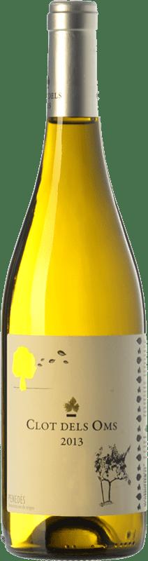 8,95 € Envío gratis | Vino blanco Ca N'Estella Clot dels Oms Blanc D.O. Penedès Cataluña España Malvasía, Chardonnay Botella 75 cl