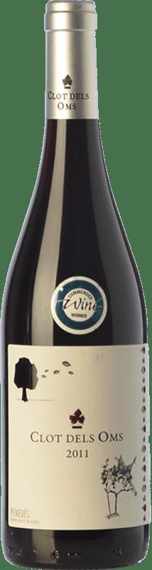 6,95 € Envoi gratuit | Vin rouge Ca N'Estella Clot dels Oms Negre Joven D.O. Penedès Catalogne Espagne Merlot, Cabernet Sauvignon Bouteille 75 cl