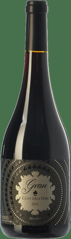 15,95 € Envío gratis | Vino tinto Ca N'Estella Gran Clot dels Oms Merlot Crianza D.O. Penedès Cataluña España Merlot, Cabernet Sauvignon Botella 75 cl