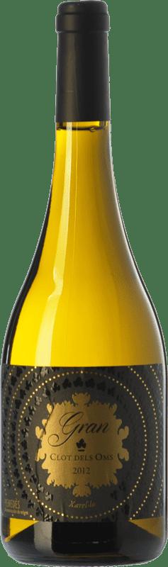 12,95 € Envío gratis | Vino blanco Ca N'Estella Gran Clot dels Oms Crianza D.O. Penedès Cataluña España Xarel·lo Botella 75 cl