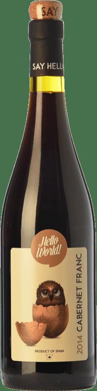 5,95 € Envío gratis | Vino tinto Finca La Estacada Hello World Joven I.G.P. Vino de la Tierra de Castilla Castilla la Mancha España Cabernet Franc Botella 75 cl