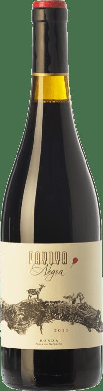17,95 € Envío gratis | Vino tinto Finca La Melonera Payoya Negra Crianza D.O. Sierras de Málaga Andalucía España Syrah, Garnacha, Tintilla de Rota Botella 75 cl