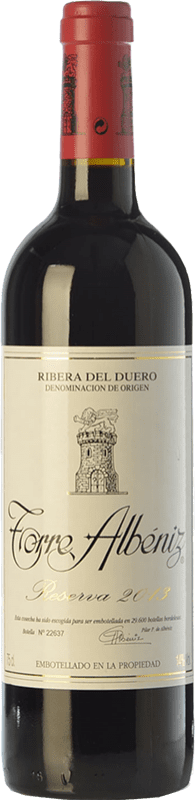 35,95 € | Red wine Finca Torremilanos Torre Albéniz Reserva D.O. Ribera del Duero Castilla y León Spain Tempranillo, Tempranillo White Bottle 75 cl
