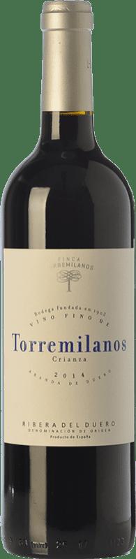 16,95 € | Red wine Finca Torremilanos Crianza D.O. Ribera del Duero Castilla y León Spain Tempranillo, Cabernet Sauvignon Bottle 75 cl