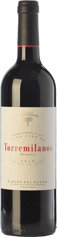 32,95 € | Red wine Finca Torremilanos Reserva D.O. Ribera del Duero Castilla y León Spain Tempranillo Bottle 75 cl