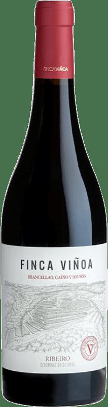13,95 € Free Shipping | Red wine Finca Viñoa Joven D.O. Ribeiro Galicia Spain Sousón, Caíño Black, Brancellao Bottle 75 cl