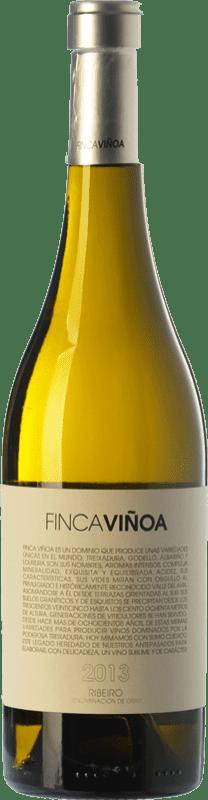 14,95 € Free Shipping | White wine Finca Viñoa D.O. Ribeiro Galicia Spain Godello, Loureiro, Treixadura, Albariño Bottle 75 cl
