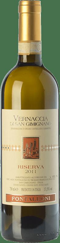 16,95 € Free Shipping | White wine Fontaleoni Riserva Reserva D.O.C.G. Vernaccia di San Gimignano Tuscany Italy Vernaccia Bottle 75 cl