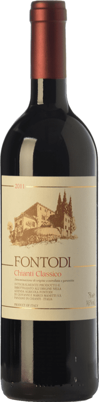 31,95 € Free Shipping | Red wine Fontodi D.O.C.G. Chianti Classico Tuscany Italy Sangiovese Bottle 75 cl