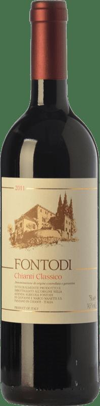 31,95 € | Red wine Fontodi D.O.C.G. Chianti Classico Tuscany Italy Sangiovese Bottle 75 cl