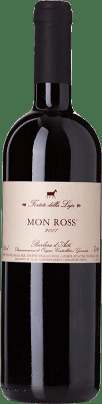 12,95 € Free Shipping | Red wine Forteto della Luja Mon Ross D.O.C. Barbera d'Asti Piemonte Italy Barbera Bottle 75 cl
