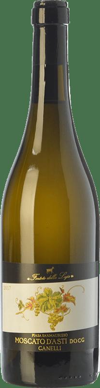 13,95 € Free Shipping | Sweet wine Forteto della Luja Piasa San Maurizio D.O.C.G. Moscato d'Asti Piemonte Italy Muscatel White Bottle 75 cl