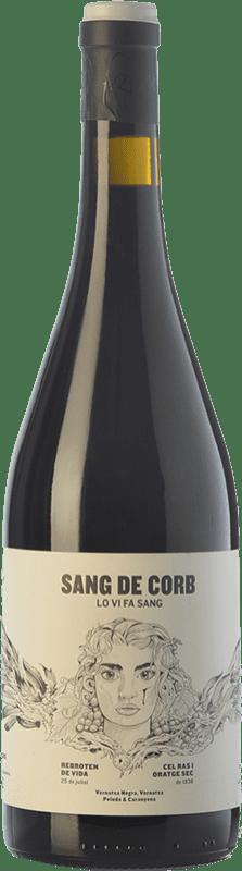 21,95 € Free Shipping | Red wine Frisach Sang de Corb Negre Crianza D.O. Terra Alta Catalonia Spain Grenache, Carignan, Grenache Hairy Bottle 75 cl