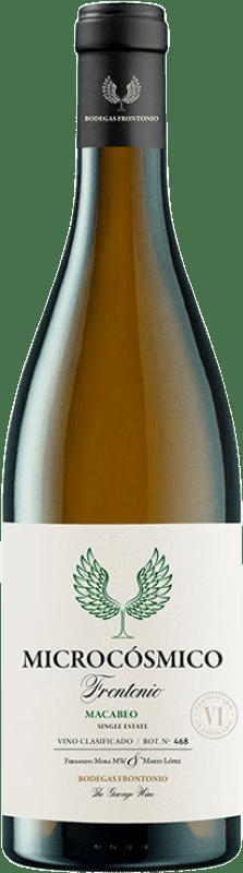 14,95 € Envío gratis | Vino blanco Frontonio Microcósmico I.G.P. Vino de la Tierra de Valdejalón Aragón España Macabeo Botella 75 cl