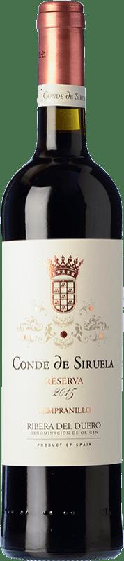 24,95 € Envío gratis | Vino tinto Frutos Villar Conde Siruela Reserva D.O. Ribera del Duero Castilla y León España Tempranillo Botella 75 cl
