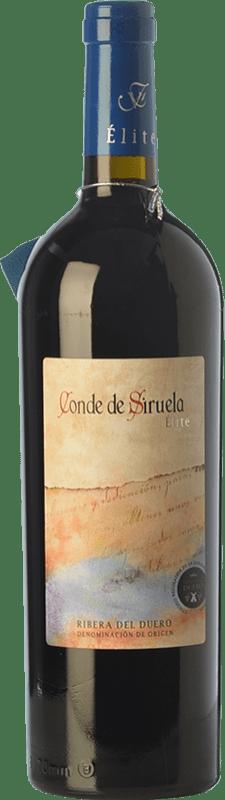 28,95 € | Red wine Frutos Villar Conde Siruela Élite Crianza D.O. Ribera del Duero Castilla y León Spain Tempranillo Bottle 75 cl