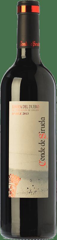 9,95 € Envío gratis | Vino tinto Frutos Villar Conde Siruela Roble D.O. Ribera del Duero Castilla y León España Tempranillo Botella 75 cl