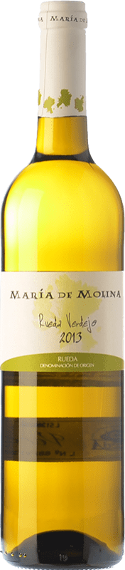 7,95 € 免费送货 | 白酒 Frutos Villar María de Molina Verdejo D.O. Rueda 卡斯蒂利亚莱昂 西班牙 Viura, Palomino Fino, Verdejo 瓶子 75 cl