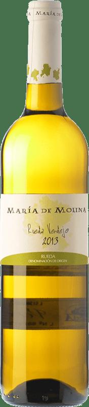 7,95 € Envío gratis | Vino blanco Frutos Villar María de Molina Verdejo D.O. Rueda Castilla y León España Viura, Palomino Fino, Verdejo Botella 75 cl