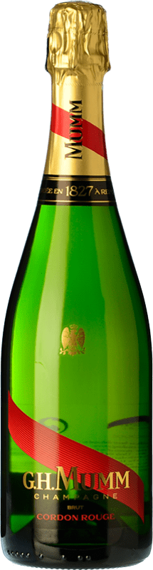 39,95 € | White sparkling G.H. Mumm Cordon Rouge A.O.C. Champagne Champagne France Pinot Black, Chardonnay, Pinot Meunier Bottle 75 cl