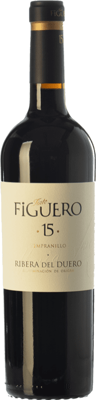 29,95 € Envío gratis | Vino tinto Figuero 15 Crianza D.O. Ribera del Duero Castilla y León España Tempranillo Botella 75 cl