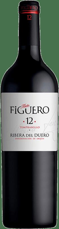 18,95 € Envío gratis | Vino tinto Figuero 12 Meses Crianza D.O. Ribera del Duero Castilla y León España Tempranillo Botella 75 cl