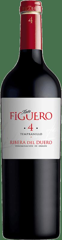 9,95 € | Red wine Figuero 4 Meses Joven D.O. Ribera del Duero Castilla y León Spain Tempranillo Bottle 75 cl