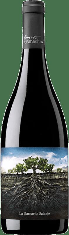 9,95 € 免费送货 | 红酒 Garnachas de España La Salvaje del Moncayo Joven I.G.P. Vino de la Tierra Ribera del Queiles 阿拉贡 西班牙 Grenache 瓶子 75 cl