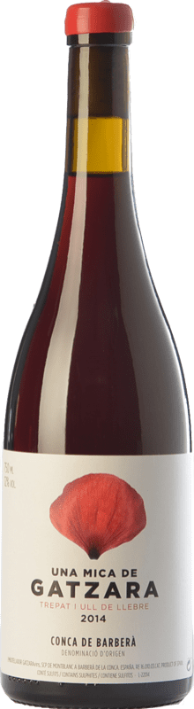 9,95 € | Red wine Gatzara Una Mica Joven D.O. Conca de Barberà Catalonia Spain Tempranillo, Trepat Bottle 75 cl