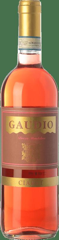11,95 € Free Shipping | Rosé wine Gaudio Ciaret D.O.C. Monferrato Piemonte Italy Barbera, Freisa Bottle 75 cl
