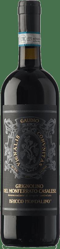 15,95 € Free Shipping | Red wine Gaudio D.O.C. Grignolino del Monferrato Casalese Piemonte Italy Grignolino Bottle 75 cl