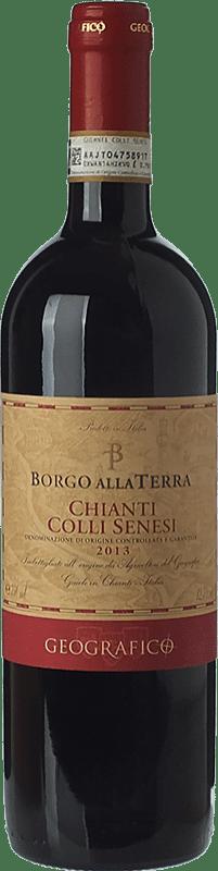 8,95 € Free Shipping | Red wine Geografico Borgo alla Terra D.O.C.G. Chianti Tuscany Italy Sangiovese, Canaiolo Bottle 75 cl