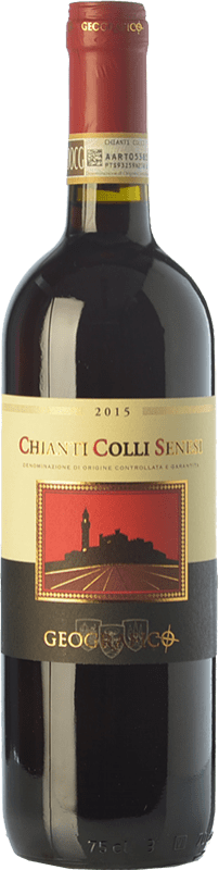 8,95 € | Red wine Geografico Colli Senesi D.O.C.G. Chianti Tuscany Italy Sangiovese, Canaiolo Bottle 75 cl