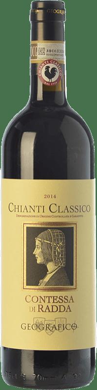 13,95 € Free Shipping | Red wine Geografico Contessa di Radda D.O.C.G. Chianti Classico Tuscany Italy Sangiovese, Colorino, Canaiolo Bottle 75 cl