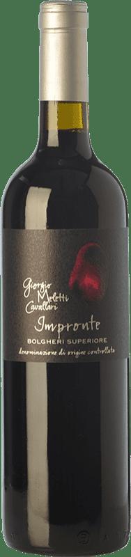 47,95 € Free Shipping | Red wine Giorgio Meletti Cavallari Impronte D.O.C. Bolgheri Tuscany Italy Cabernet Sauvignon, Cabernet Franc Bottle 75 cl