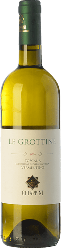 14,95 € Free Shipping | White wine Chiappini Le Grottine D.O.C. Bolgheri Tuscany Italy Vermentino Bottle 75 cl