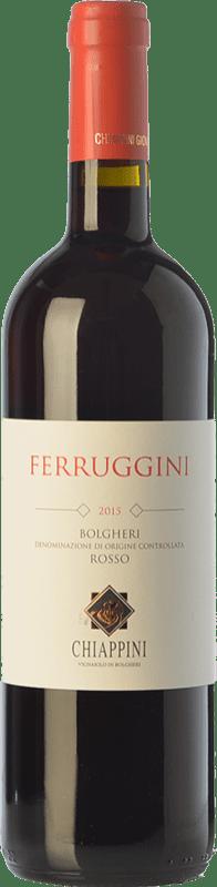 13,95 € Free Shipping | Red wine Chiappini Rosso Ferruggini D.O.C. Bolgheri Tuscany Italy Syrah, Cabernet Sauvignon, Sangiovese Bottle 75 cl