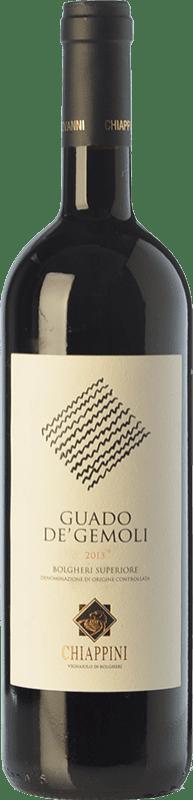 49,95 € Free Shipping | Red wine Chiappini Superiore Guado de' Gemoli D.O.C. Bolgheri Tuscany Italy Merlot, Cabernet Sauvignon Bottle 75 cl