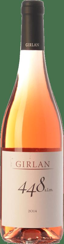 8,95 € Free Shipping | Rosé wine Girlan 448 S.L.M. Rosè I.G.T. Vigneti delle Dolomiti Trentino Italy Pinot Black, Lagrein, Schiava Bottle 75 cl