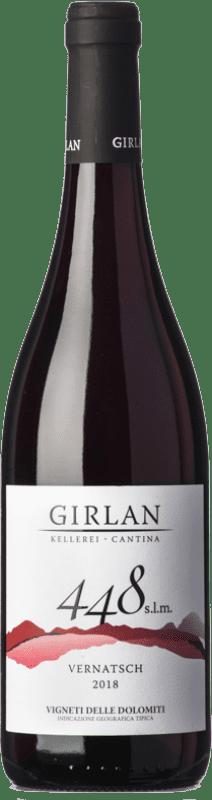 9,95 € 免费送货 | 红酒 Girlan 448 S.L.M. Rosso I.G.T. Vigneti delle Dolomiti 特伦蒂诺 意大利 Pinot Black, Lagrein, Schiava 瓶子 75 cl