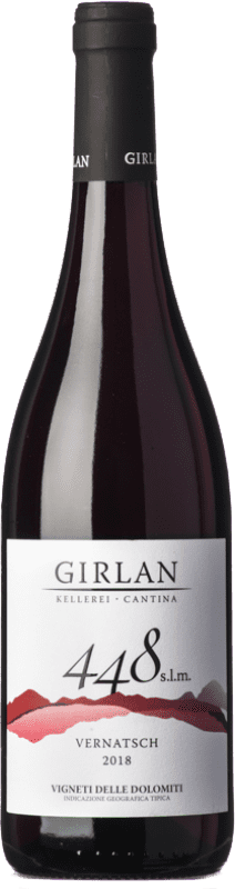 9,95 € Free Shipping | Red wine Girlan 448 S.L.M. Rosso I.G.T. Vigneti delle Dolomiti Trentino Italy Pinot Black, Lagrein, Schiava Bottle 75 cl