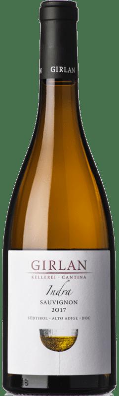 14,95 € 免费送货 | 白酒 Girlan Sauvignon Indra D.O.C. Alto Adige 特伦蒂诺 - 上阿迪杰 意大利 Sauvignon White 瓶子 75 cl