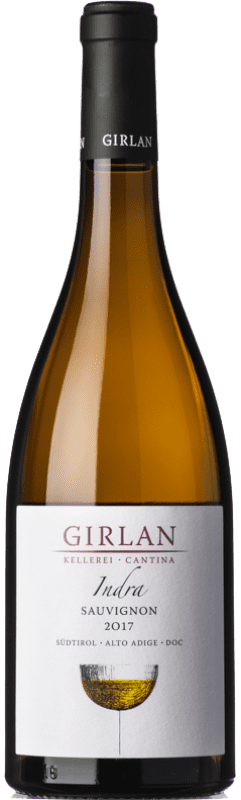 14,95 € Free Shipping | White wine Girlan Sauvignon Indra D.O.C. Alto Adige Trentino-Alto Adige Italy Sauvignon White Bottle 75 cl