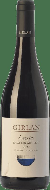 21,95 € 免费送货 | 红酒 Girlan Laurin D.O.C. Alto Adige 特伦蒂诺 - 上阿迪杰 意大利 Merlot, Lagrein 瓶子 75 cl