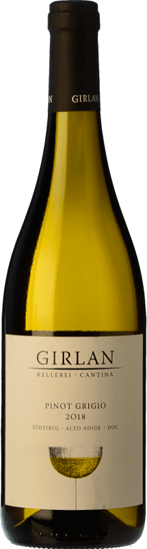 11,95 € 免费送货 | 白酒 Girlan D.O.C. Alto Adige 特伦蒂诺 - 上阿迪杰 意大利 Pinot Grey 瓶子 75 cl